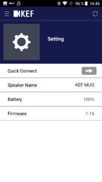 KEF MUO aplikace