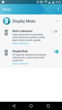 Motorola Moto G5S Plus moto displej
