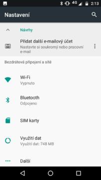 Motorola Moto G5S Plus nastavení