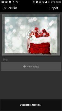 Náhled vánoční pohlednice