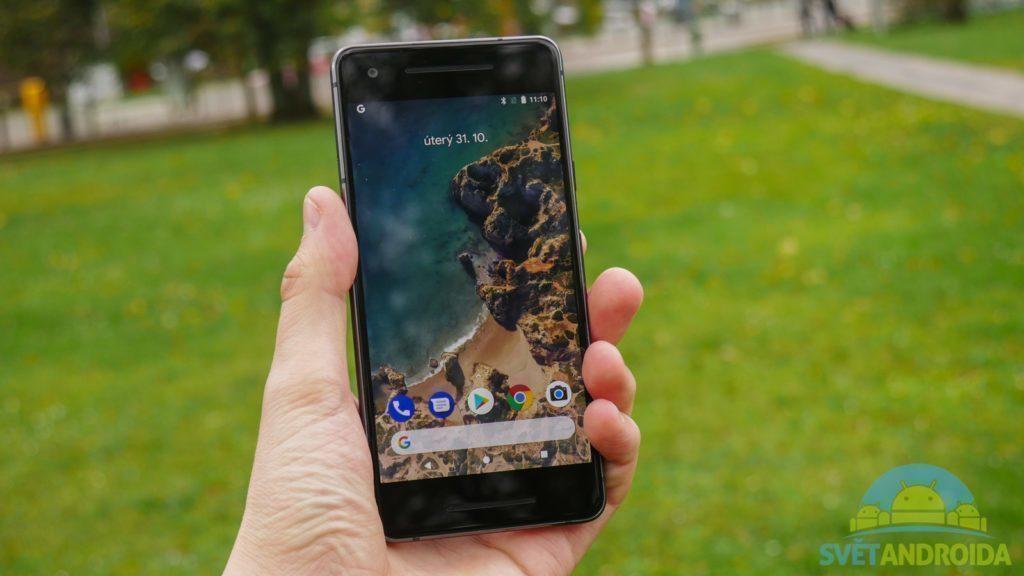 Telefon Google Pixel 2-konstrukce-predni strana