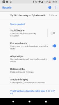 Telefon Google Pixel 2-vydrz baterie