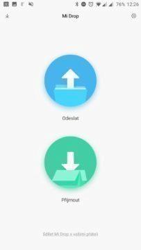 Xiaomi Mi Drop - hlavní obrazovka