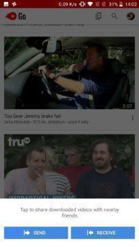Youtube Go aplikace (2)