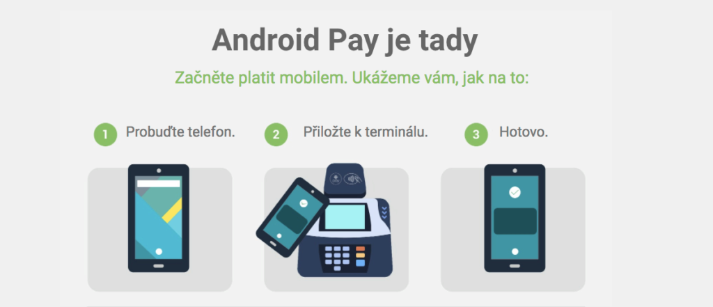 android pay cz placeni mobilem