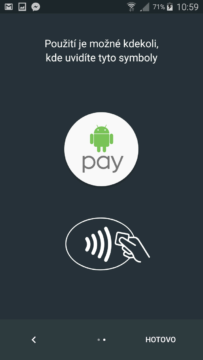 nastavení android