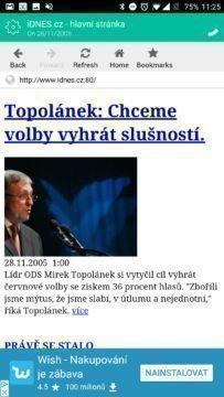 iDnes.cz v roce 2005
