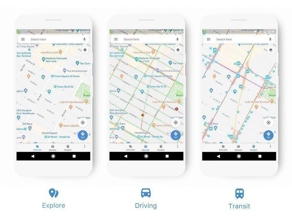 novy vzhled google mapy