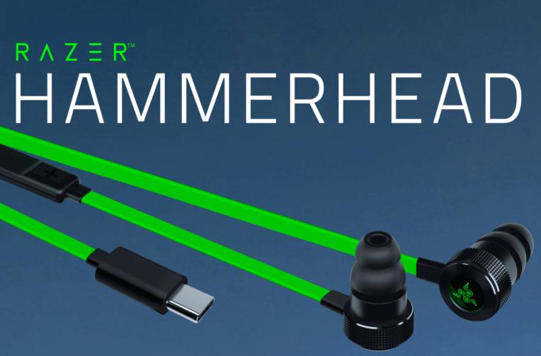 razer hammerhead usb-c sluchatka