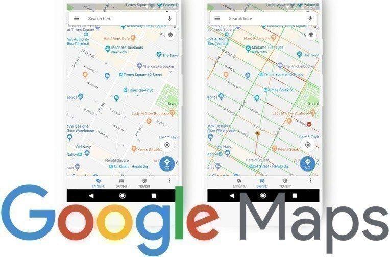 vzhled google mapy novinka