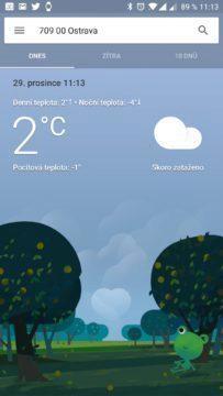 Počasí od Googlu