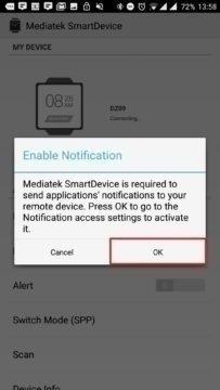 Požadavek na přístup k notifikacím