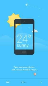 Průvodce aplikací Weathershot by Instaweather