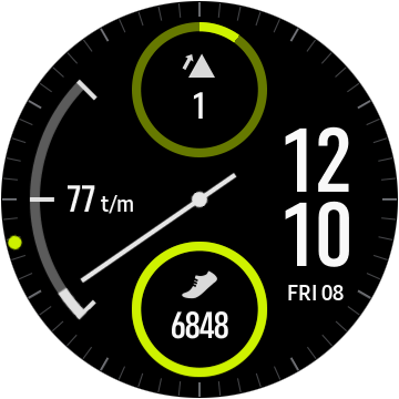 Samsung Gear Sport ciferník