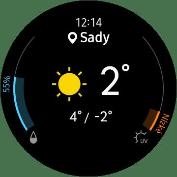 Samsung Gear Sport počasí