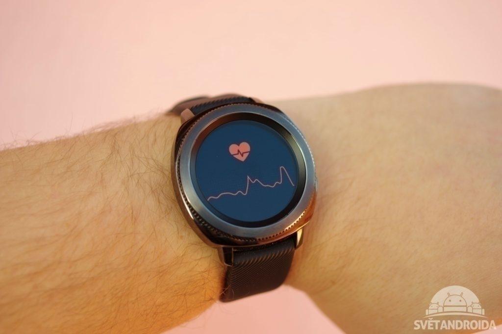 Samsung Gear Sport srdeční tep