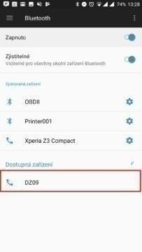 Spojit se zařízením DZ09