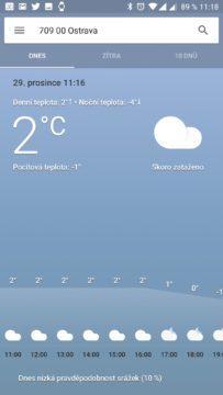 Vývoj teploty