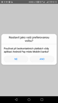 android pay komercni banka