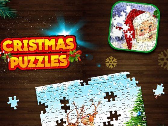 puzzle hra s Vánoční tématikou
