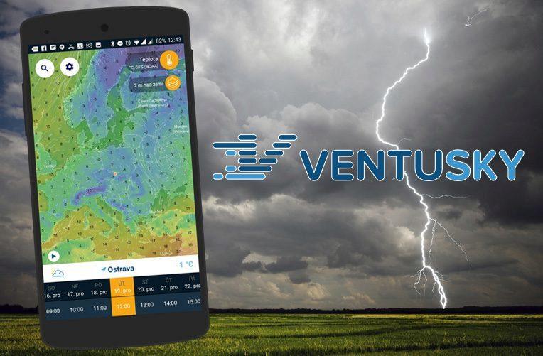 Aplikace Ventusky meteo