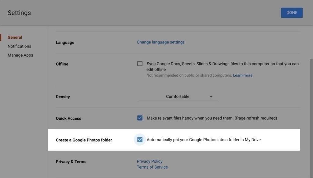 zalozka google fotky disk slozka