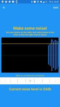 Nastavení citlivosti zvuku