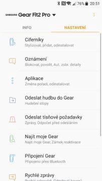 Samsung Gear Fit 2 Pro aplikace 3