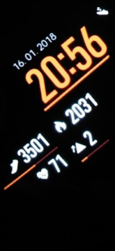Samsung Gear Fit 2 Pro hlavní obrazovka