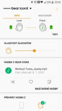 Samsung Gear IconX (2018) app 1