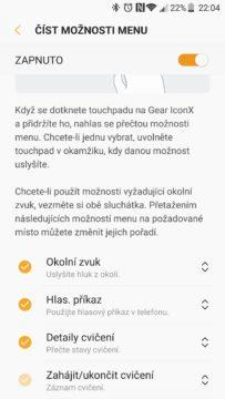 Samsung Gear IconX (2018) app