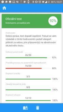 Výsledky testu