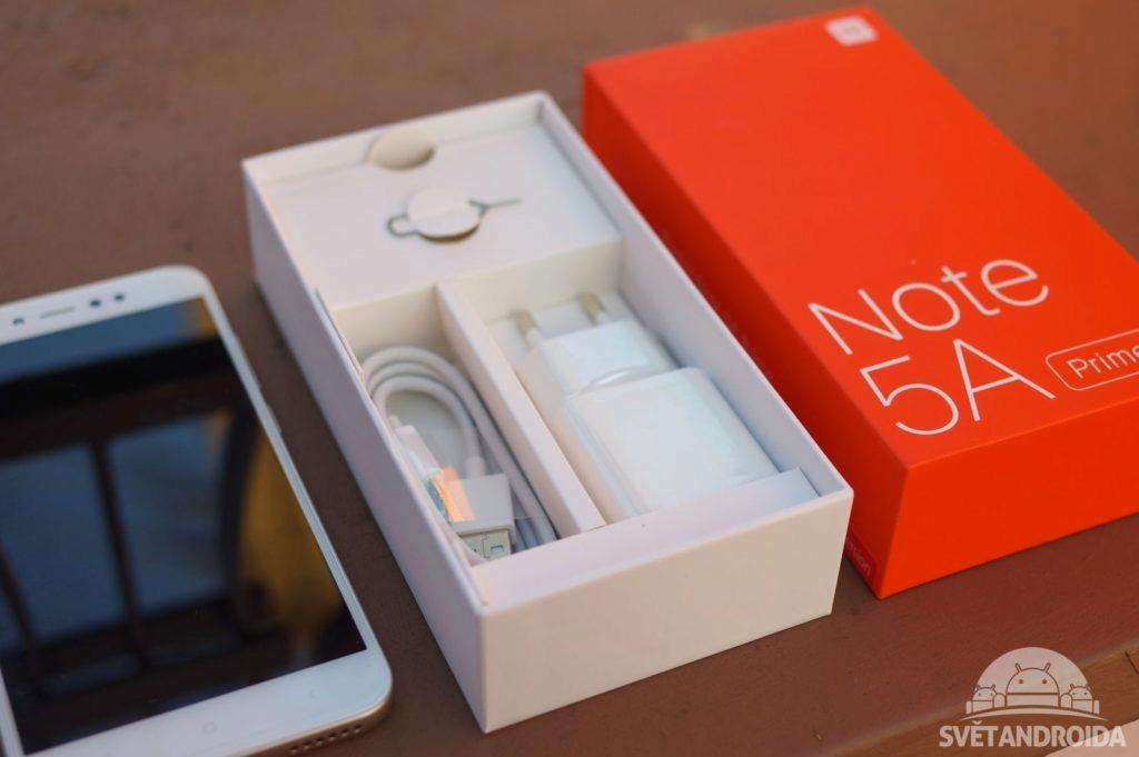 Xiaomi Redmi Note 5A Prime obsah balení