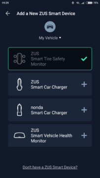 ZUS Smart Tire Safety Monitor app 2