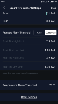 ZUS Smart Tire Safety Monitor app 5