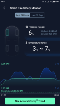 ZUS Smart Tire Safety Monitor app 8