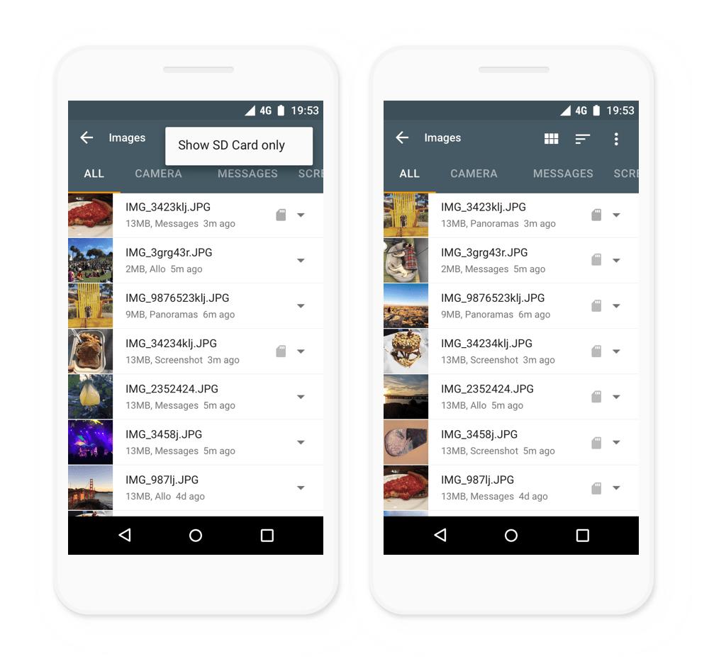 files go google aplikace