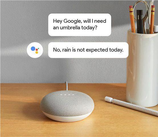 google home mini weather