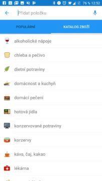 Procházení produktů v kategoriích