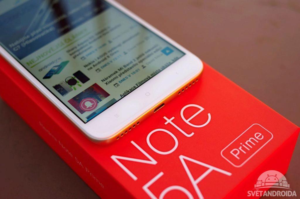 Xiaomi Redmi Note 5A Prime tlačítka