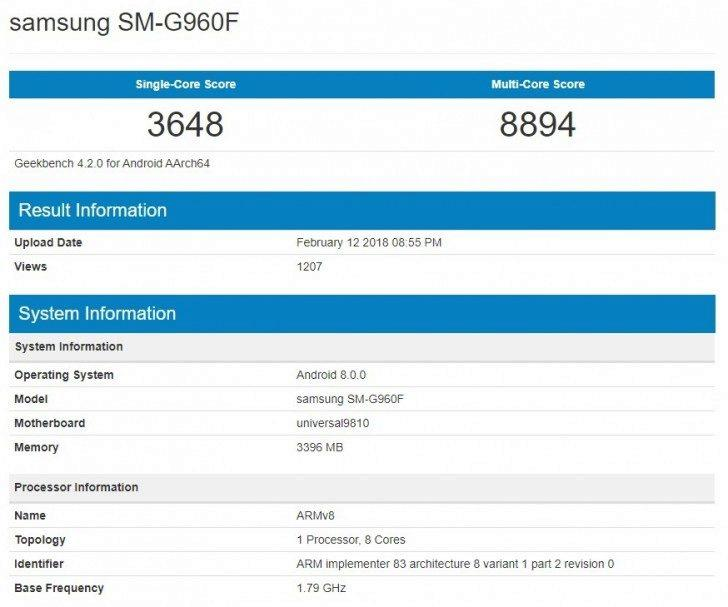 exynos 9810 benchmark