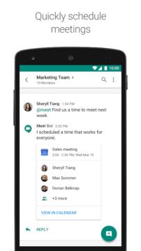 hangouts chat aplikace
