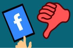 palec dolu facebook