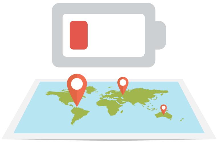 sdileni baterie google mapy