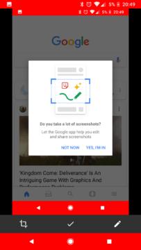 snimky obrazovky Google aplikace (2)