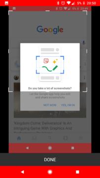snimky obrazovky Google aplikace (3)