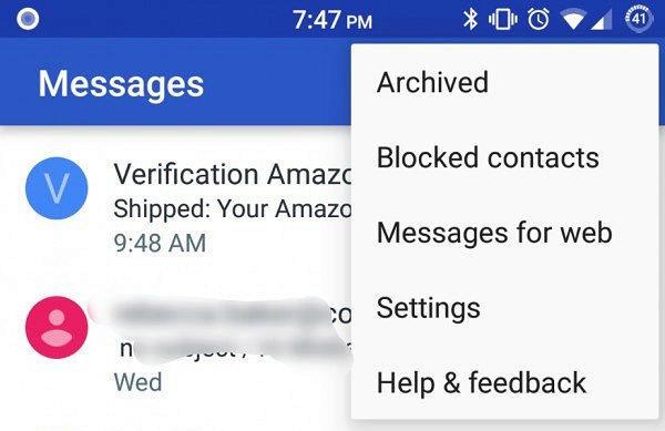 zpravy pro android webove rozhrani