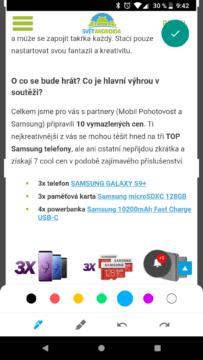 Aplikace Markup screenshoty Android P (1)