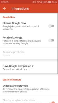 Chytre karty Google v Nova Launcheru-aktivace-1