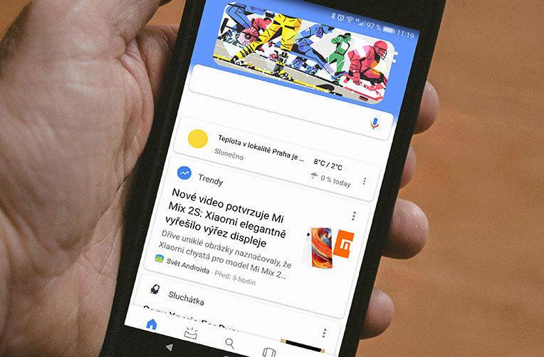 chytré karty Google v Nova Launcheru